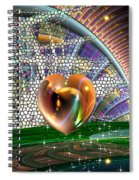 Geo Hearts Spiral Notebook