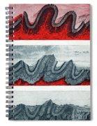 Geologic Crumpling Spiral Notebook