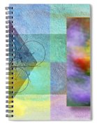 Geometric Blur Spiral Notebook