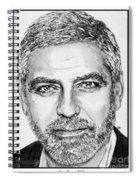 George Clooney In 2009 Spiral Notebook