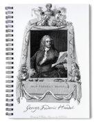 George Frideric Handel, German Baroque Spiral Notebook