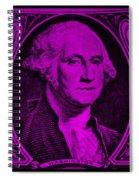 George Washington In Purple Spiral Notebook