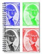 George Washington In Quad Negative Spiral Notebook