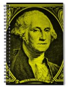 George Washington In Yellow Spiral Notebook