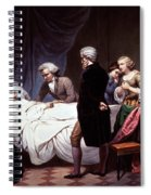 George Washington On His Death Bed Spiral Notebook