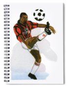George Weah In Action Spiral Notebook