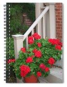 Geraniums On The Steps Spiral Notebook