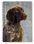 German Pointer Portrait Of A Dog Spiral Notebook