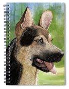German Shepard Puppy Spiral Notebook