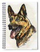 German-shepherd-portrait Spiral Notebook