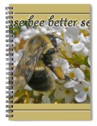 Get Well Card - Bumblebee Spiral Notebook