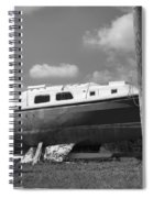 Ghost Crab Boat Spiral Notebook
