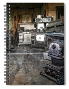 Ghost Town Stove Storage - Montana State Spiral Notebook