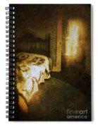 Ghostly Figure In Hallway Spiral Notebook