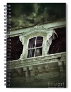 Ghostly Girl In Upstairs Window Spiral Notebook