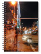 Ghostly Halloween Party Goers On Chippewa Spiral Notebook