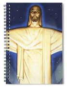 Giant Figure Of Christ Spiral Notebook