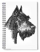 Giant-schnauzer-portrait Spiral Notebook