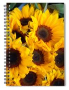 Giant Sunflowers For Sale In The Swiss City Of Lucerne Spiral Notebook