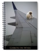 Gibbon On Wing Spiral Notebook