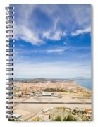 Gibraltar Airport Runway And La Linea Town Spiral Notebook