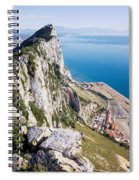 Gibraltar Rock And Mediterranean Sea Spiral Notebook