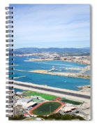 Gibraltar Runway And La Linea Cityscape Spiral Notebook
