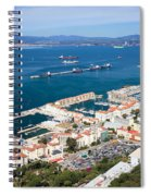 Gibraltar Town And Bay Spiral Notebook