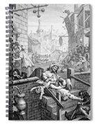 Gin Lane, William Hogarth Spiral Notebook