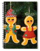 Gingerbread Couple Spiral Notebook