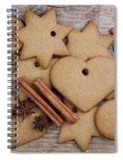 Gingerbread Spiral Notebook