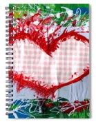 Gingham Crazy Heart Spiral Notebook