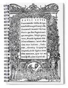 Giovio: Title Page, 1525 Spiral Notebook