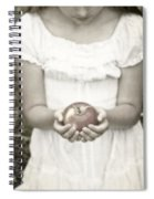 Girl And Apple Spiral Notebook