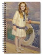 Girl In A Sailor Suit Spiral Notebook