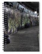 Girl In Station Spiral Notebook