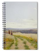 Girl In The Fields   Spiral Notebook