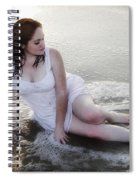 Girl In The Surf Spiral Notebook