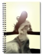 Girl In White Dress Spiral Notebook