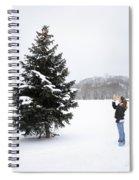Girl Measuring Tree Height Spiral Notebook