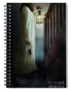 Girl On Stairs With Lantern And Keys Spiral Notebook