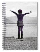 Girl On The Shores Of Lake Maggiore Spiral Notebook