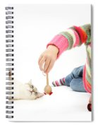 Girl Playing With Cat Spiral Notebook
