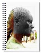 Girl Statue Spiral Notebook