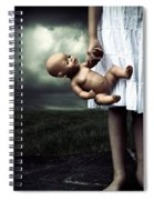 Girl With A Baby Doll Spiral Notebook
