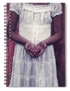 Girl With A Heart Spiral Notebook