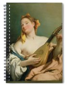 Girl With A Mandolin Spiral Notebook