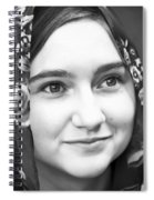 Girl With A Rose Veil 4 Bw Spiral Notebook