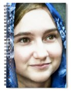 Girl With A Rose Veil 4 Illustration Spiral Notebook