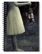 Girl With An Oil Lamp Spiral Notebook